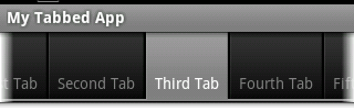 Android scrollable tabs