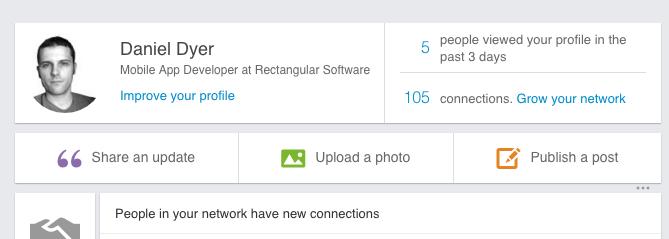 LinkedIn hidden navigation
